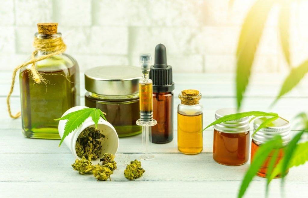 various-cbd-cannabis-buds-cream-gel-balm-paste